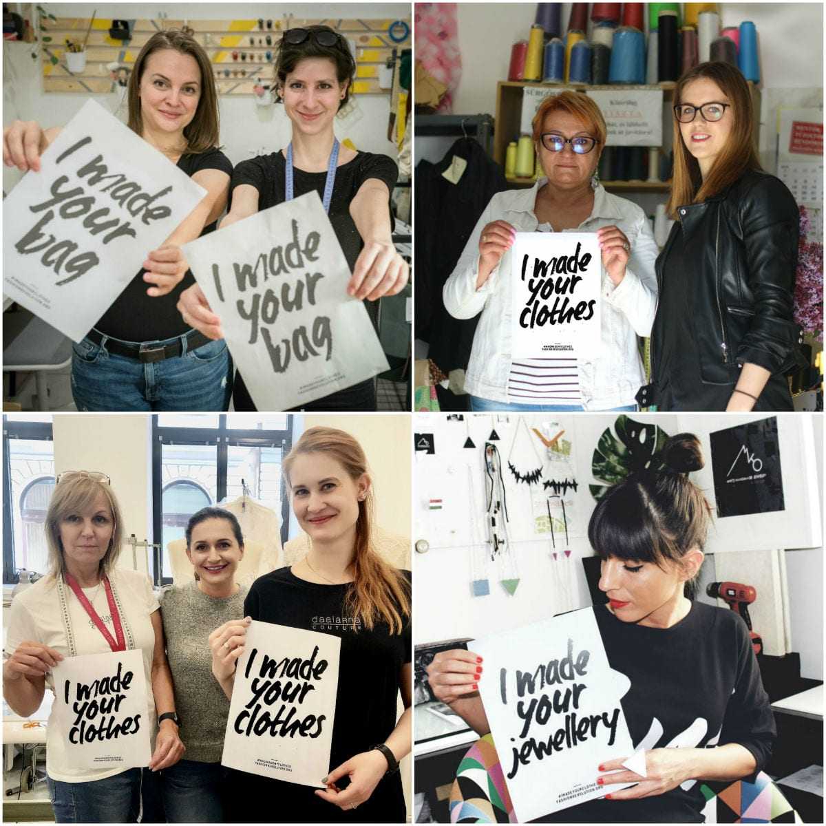 c94d6526ee Fashion Revolution: 29 magyar tervező megmutatta, kik készítik a ruháinkat