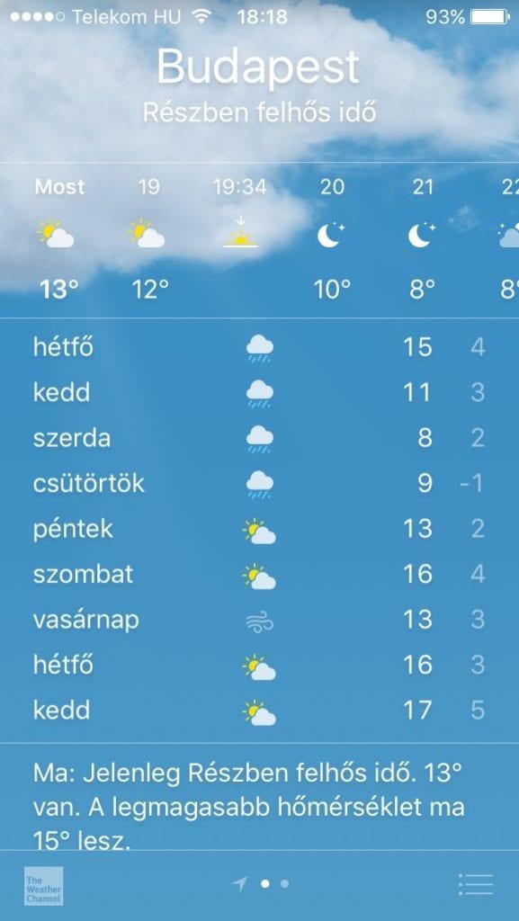 10 x 10 kihivas beharangozo időjárás